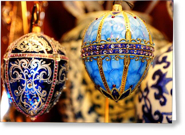Faberge Holiday Eggs Greeting Card