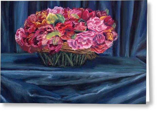 Fabric And Flowers Greeting Card by Sharon E Allen