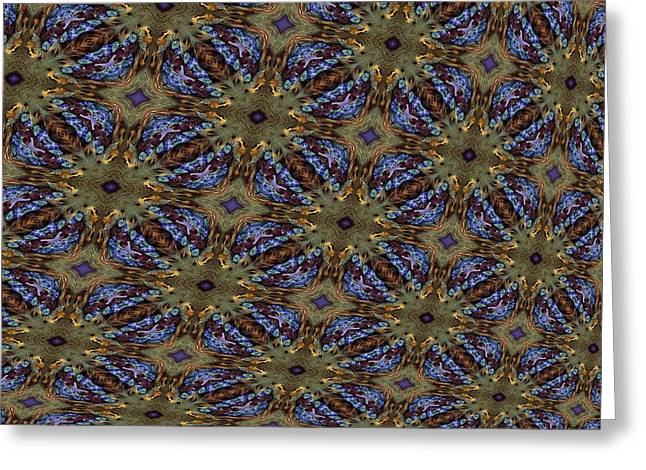 Fabric Fantacy Greeting Card by Ricky Kendall