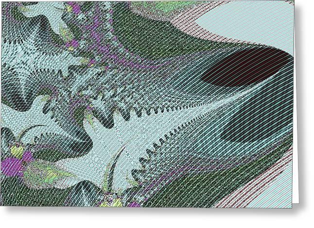 Fabric Sample Greeting Card by Thomas Smith