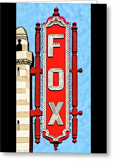 Fabulous Fox Marquee - Atlanta Greeting Card by Mark Tisdale