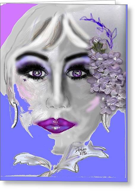 Fabulous Purple Greeting Card by Desline Vitto