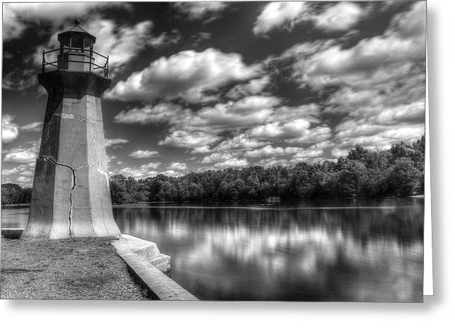Fabyan Lighthouse On The Fox River Greeting Card