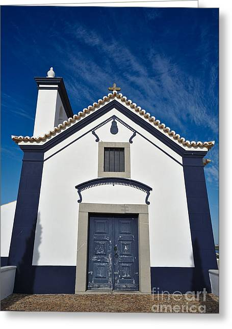 Facade Of Church Of St. Anthony In Portugal Greeting Card by Angelo DeVal