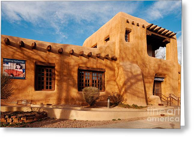 Facade Of New Mexico Museum Of Art II - Santa Fe New Mexico Greeting Card
