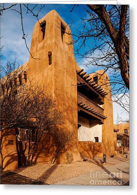 Facade Of New Mexico Museum Of Art - Santa Fe New Mexico Greeting Card