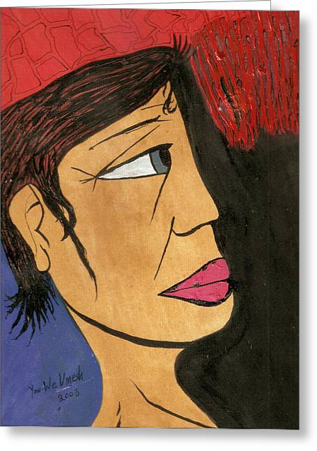 Face 2 Greeting Card by Umesh U V