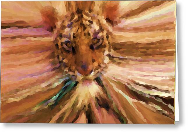 Face Greeting Card by Andrea N Hernandez