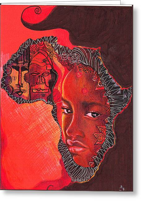Face Of Africa Greeting Card