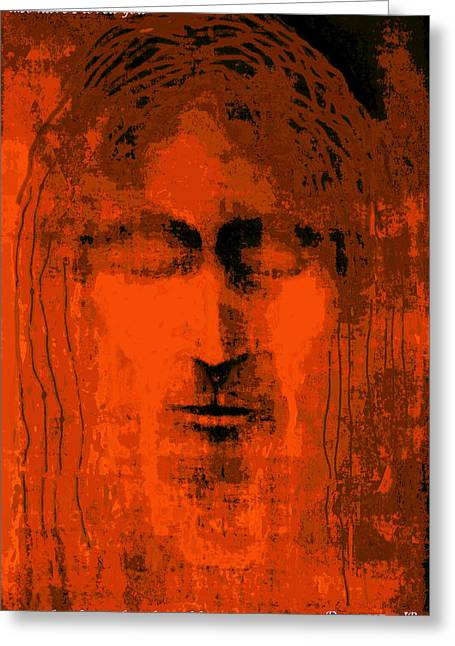 Face Of Christ, Cheney Greeting Card