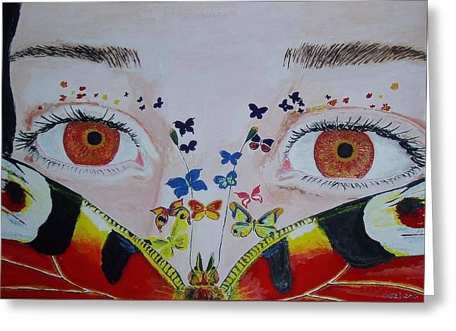 Face Of Dreams Greeting Card by Natalia Sattarova