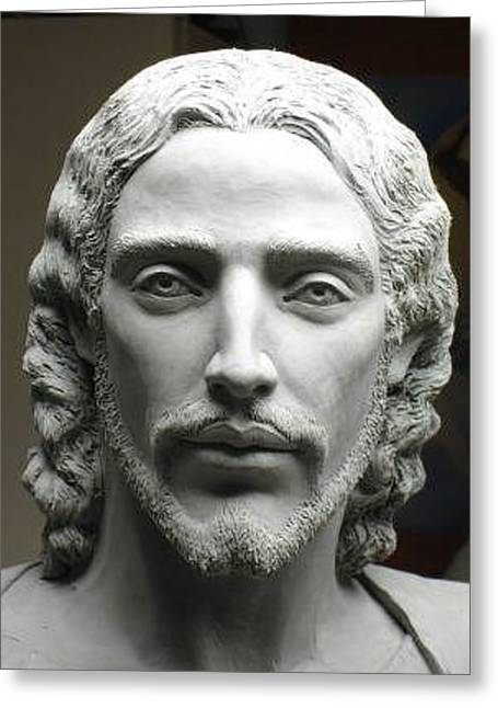 Face Of Jesus Greeting Card by Patrick RANKIN