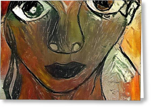 Face Of Love Greeting Card