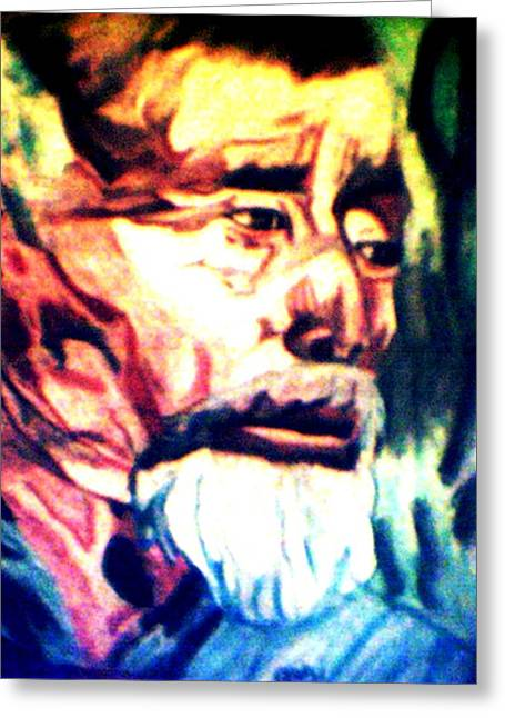 Face Of Strength  Greeting Card by Jo-Ann Hayden