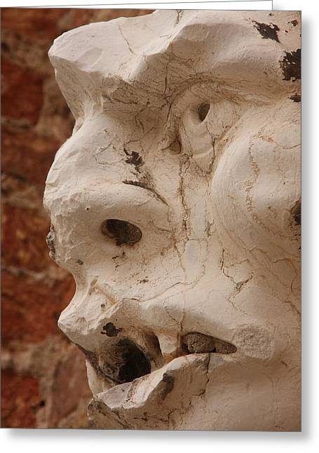 Face On San Trovaso Bell Tower Greeting Card by Michael Henderson