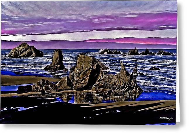 Face Rock At Bandon Beach Greeting Card by M S McKenzie