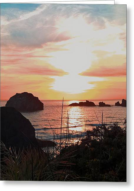 Face Rock Sunset II Greeting Card