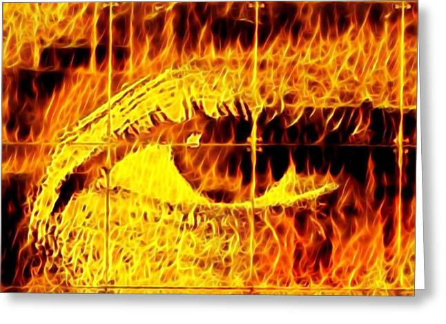 Face The Fire Greeting Card