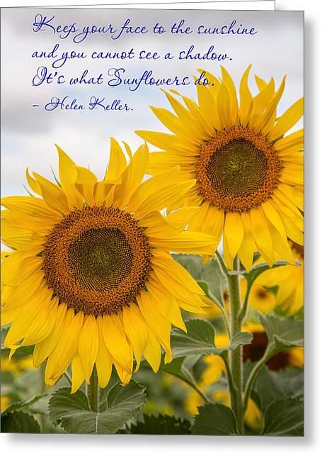 Face The Sunshine Greeting Card
