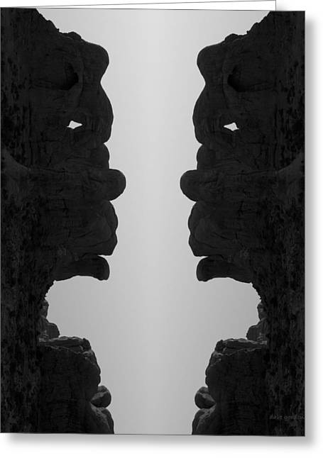 Face To Face IIi Bw Greeting Card by David Gordon