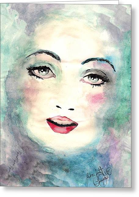 Face Upon The Water Greeting Card by Scarlett Royal
