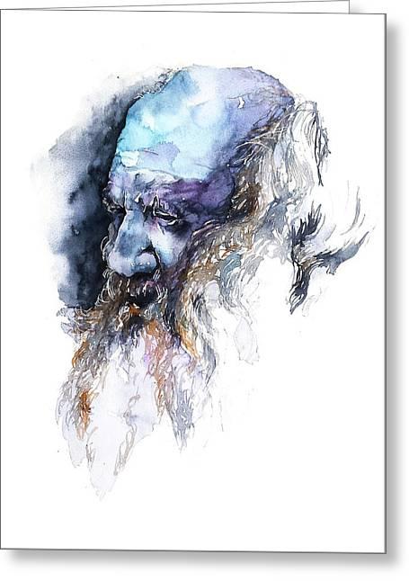 Face#11 Greeting Card by Rafal Wnek