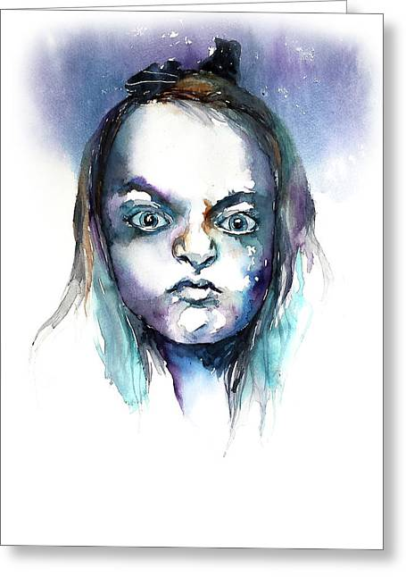 Face#8 Greeting Card