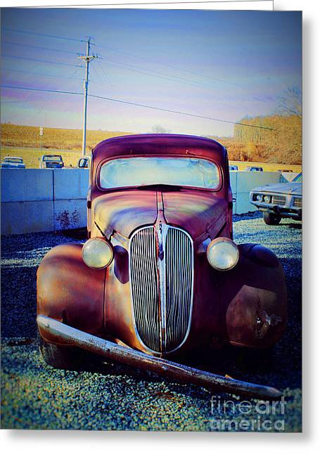 Facelift Wanted Car Greeting Card