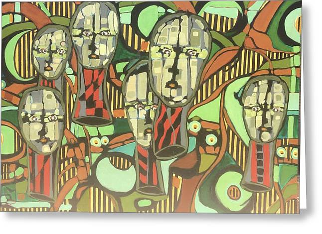Faces #22 Greeting Card