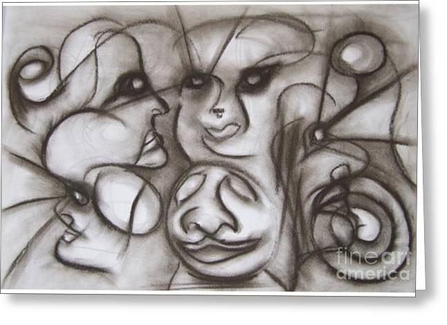 Faces And Places Greeting Card