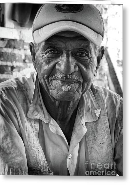 Faces Of Cuba The Gentleman Greeting Card by Wayne Moran
