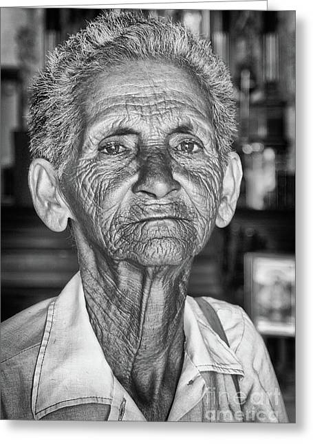Faces Of Cuba The Woman In Need Greeting Card by Wayne Moran