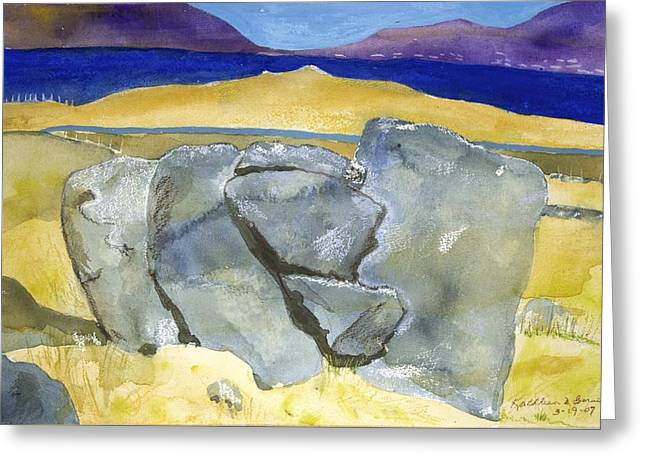 Faces Of The Rocks Greeting Card
