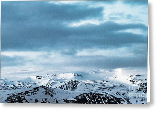 Facing Eyafjallajokull Greeting Card