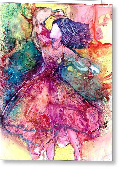 Facing One Greeting Card by Deborah Nell