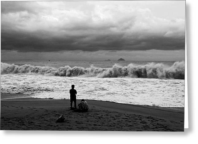 Facing The Storm Greeting Card by Kim Lagerhem
