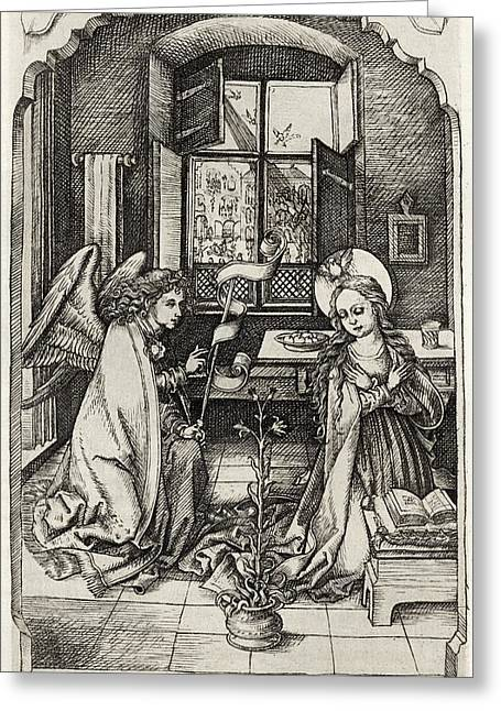 Facsimile Of The Annunciation To The Greeting Card