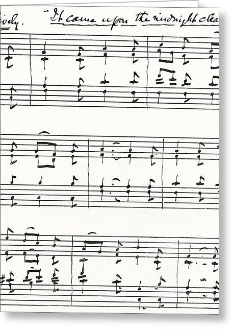 Facsimile Of The First Bars Of  It Came Greeting Card