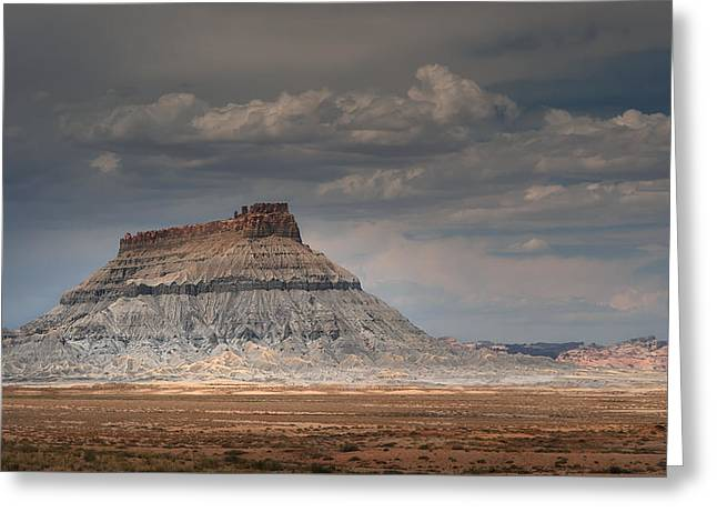 Greeting Card featuring the photograph Factory Butte by Dan Mihai