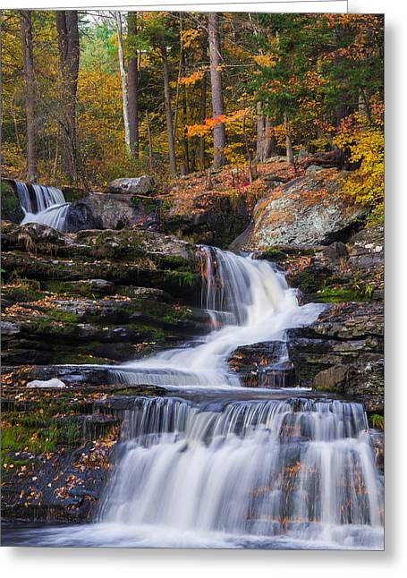 Greeting Card featuring the photograph Factory Falls 2 by Mark Papke