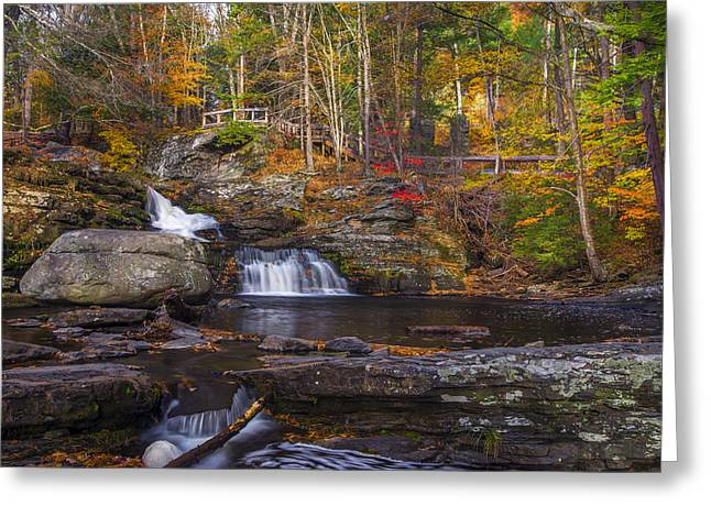 Greeting Card featuring the photograph Factory Falls by Mark Papke