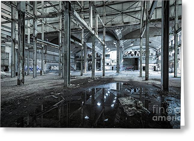 Factory Of The Past Greeting Card by Svetlana Sewell