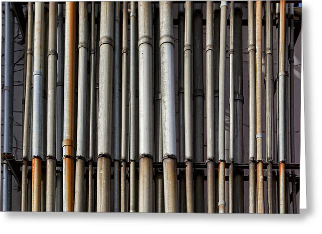 Factory Pipes Greeting Card by Robert Ullmann