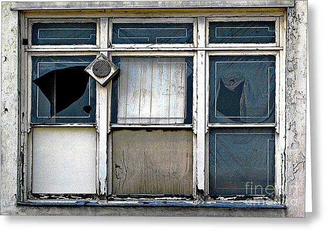 Greeting Card featuring the photograph Factory Windows by Ethna Gillespie