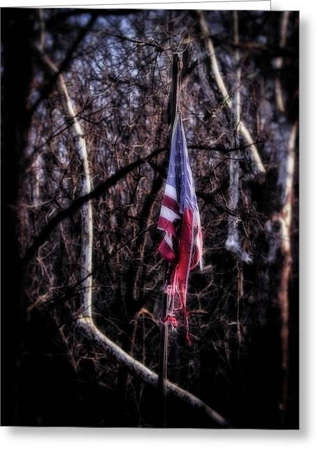 Greeting Card featuring the photograph Faded Glory by Alan Raasch