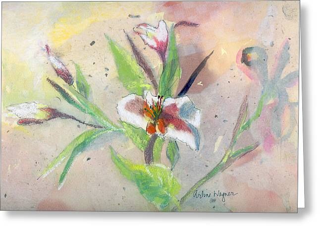Faded Lilies Greeting Card by Arline Wagner