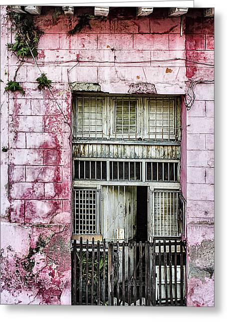 Faded Rouge Greeting Card by Dawn Currie