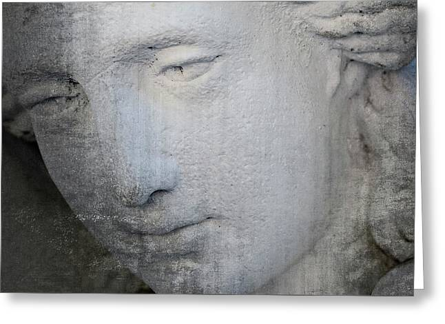 Faded Statue Greeting Card
