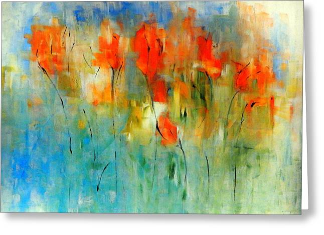 Faded Warm Autumn Wind Greeting Card