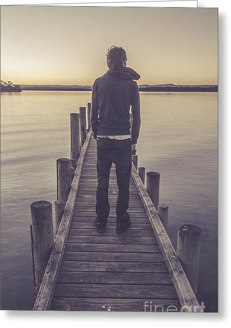 Faded Winter Pier Portrait Greeting Card by Jorgo Photography - Wall Art Gallery
